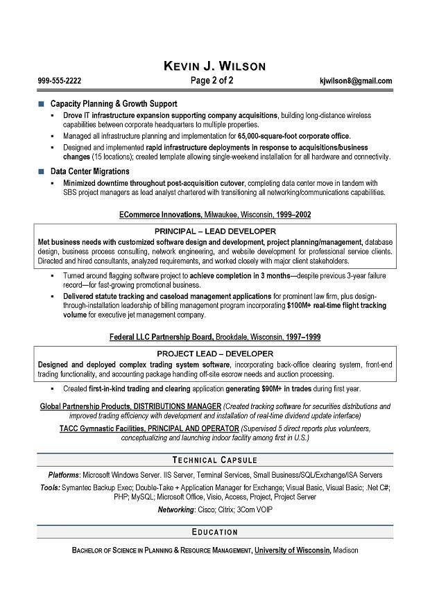 IT Director & CIO Sample Resume; Executive resume writer ...