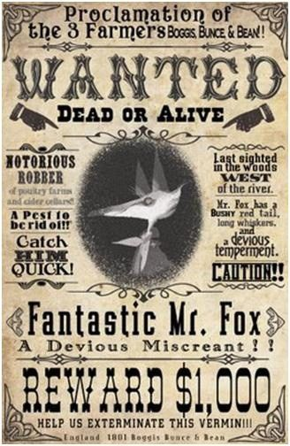 Wanted poster example – Quiz