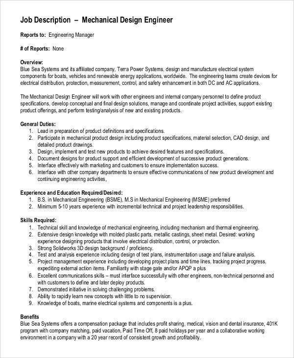 Maintenance Engineer Job Description. Redoubtable Building ...