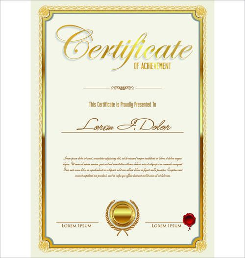Golden template certificate design vector Free vector in Adobe ...
