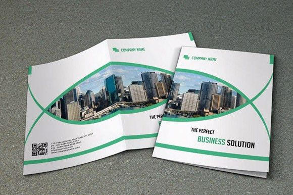Bi-fold brochure for business-V15 by Template Shop on Creative ...