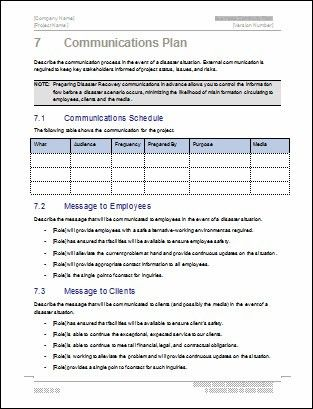 Communications Plan for Business Continuity Template | Flickr