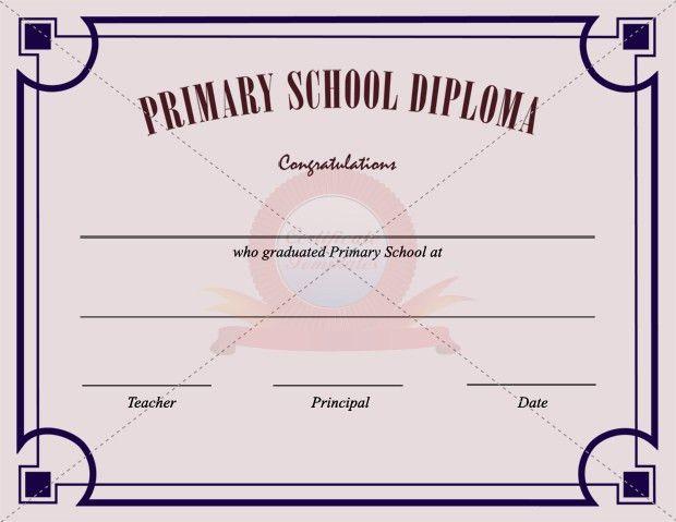 Primary School Certificate Template | SCHOOL CERTIFICATE TEMPLATES ...