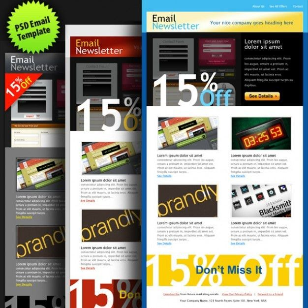 Creative email newsletter psd template PSD file | Free Download