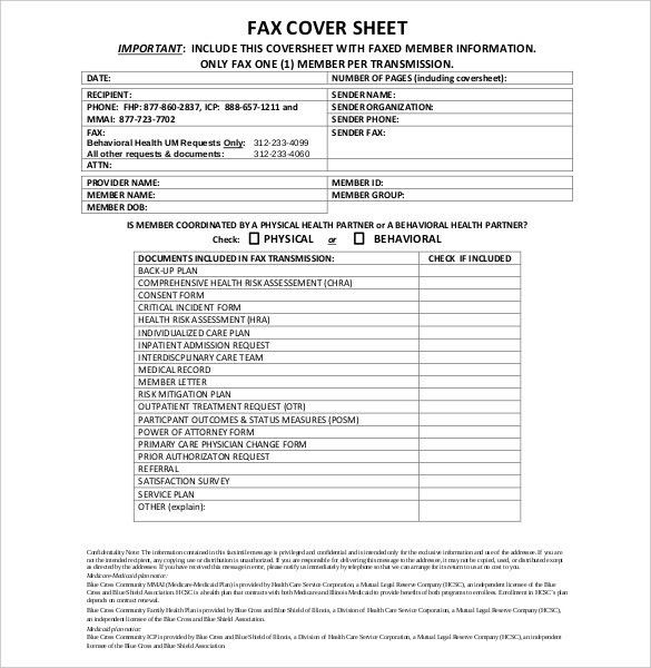 12+ Confidential Cover Sheet Templates – Free Sample, Example ...