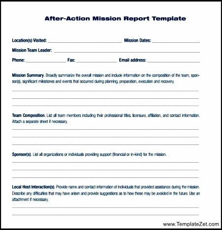 After Action Report Free Example | TemplateZet