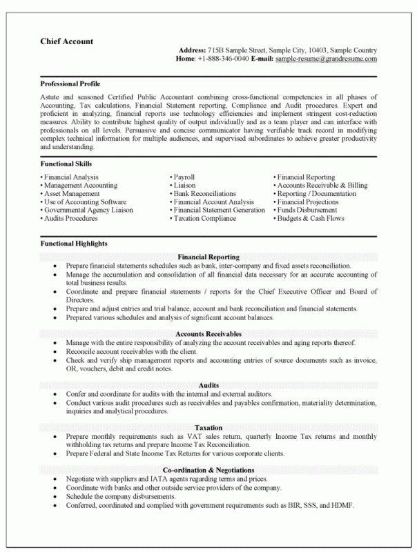 Accounting Resume Objective Statements Resume Objective Statement