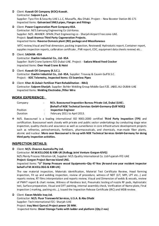 resume for quality control inspector quality control inspector