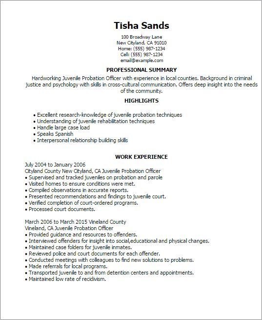 Professional Juvenile Probation Officer Templates to Showcase Your ...