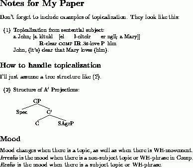 A LaTeX example