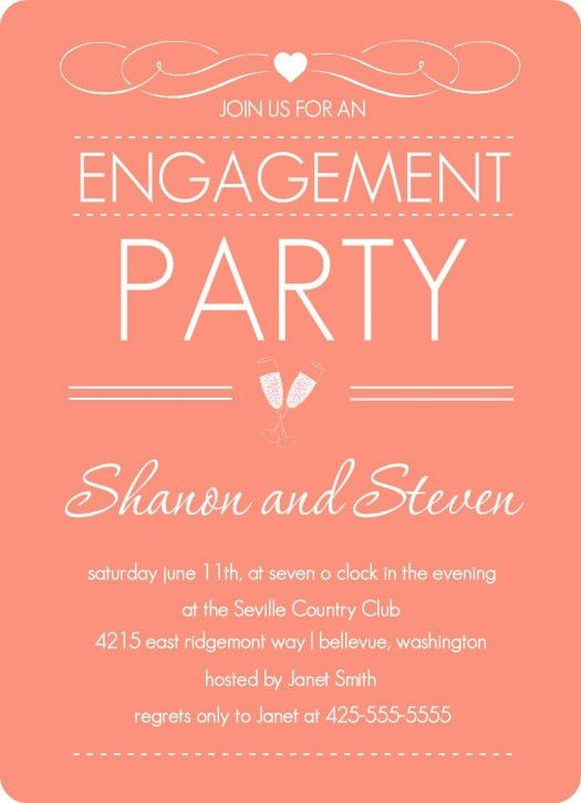 Engagement Invitations Templates. 40 printable engagement ...
