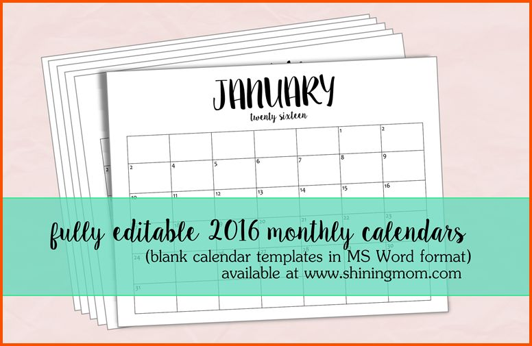 9+ printable editable calendar | Survey Template Words