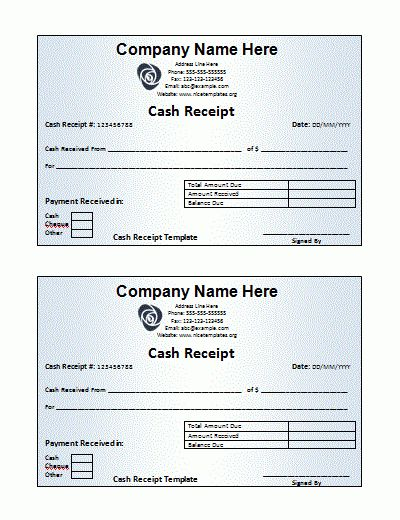 4+ free receipt template | Printable Receipt