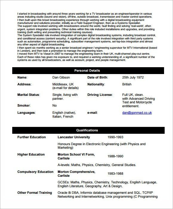 6 Network Engineer Resume Templates - Download Documents in PDF ...