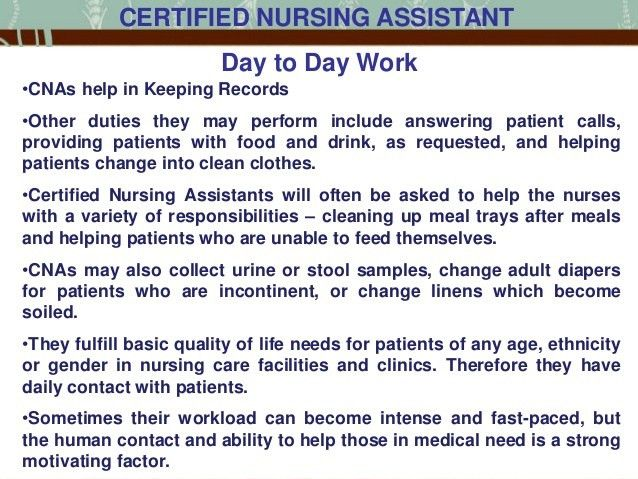 Life of a Certified Nursing Assistant in the US