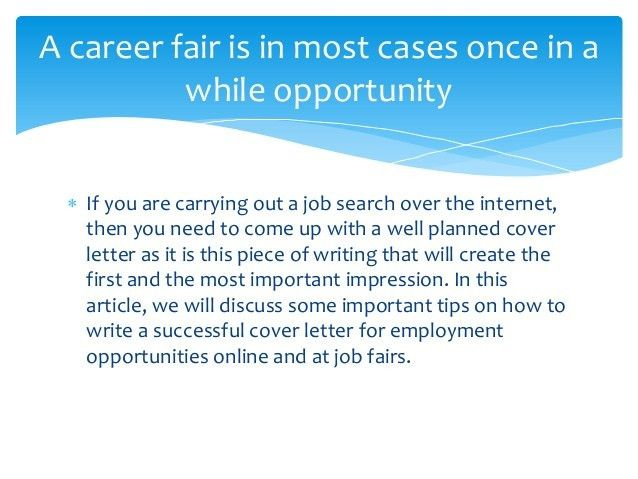 5 Tips to Create Successful Cover Letters to present at Job Fairs