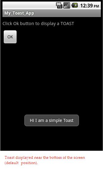 How to create a Toast message in Android?