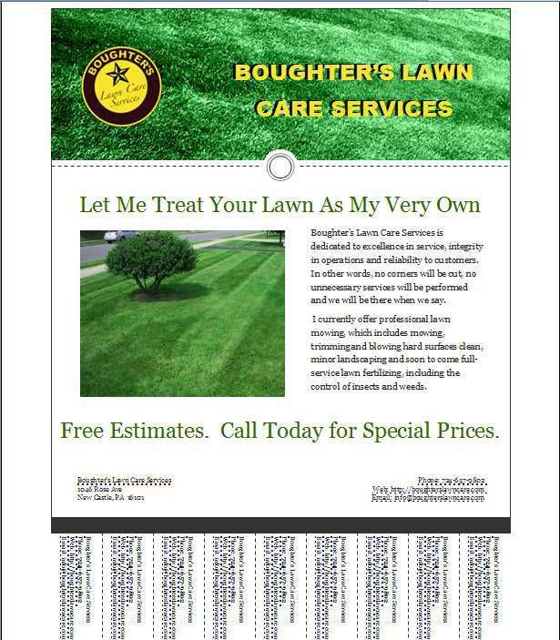 Lawn Care Business Flyer Template | Campbell Lawn | Pinterest ...