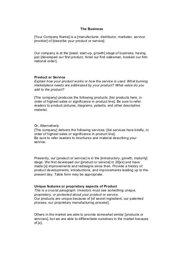 Service Business Plan Template. Catering Business Plan Template ...