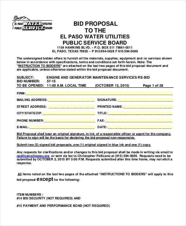 49+ Proposal Samples in PDF