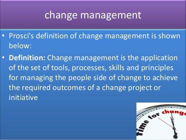 Change management sample cover letter