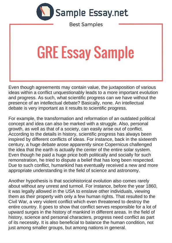 Issue and Argument: GRE Essay Sample | Sample Essay