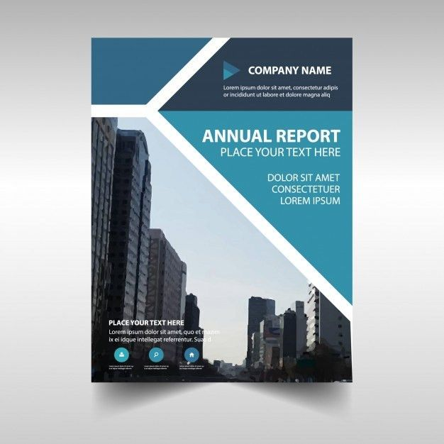 Blue creative corporate annual report template Vector | Free Download