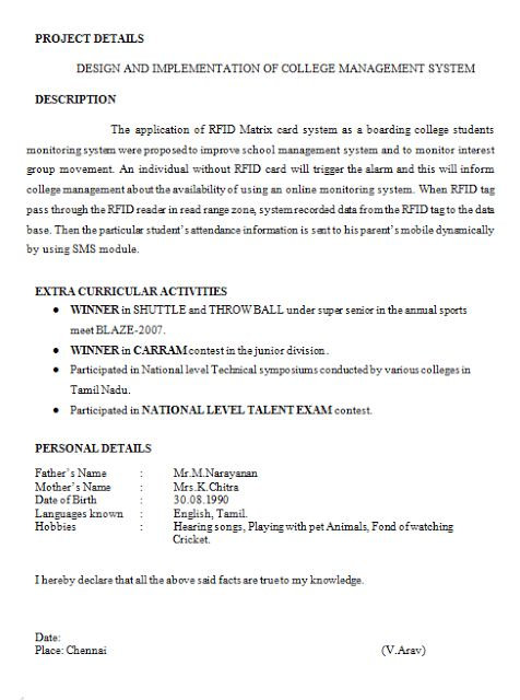 Amusing Engineering Student Resume 49 In Easy Resume With ...