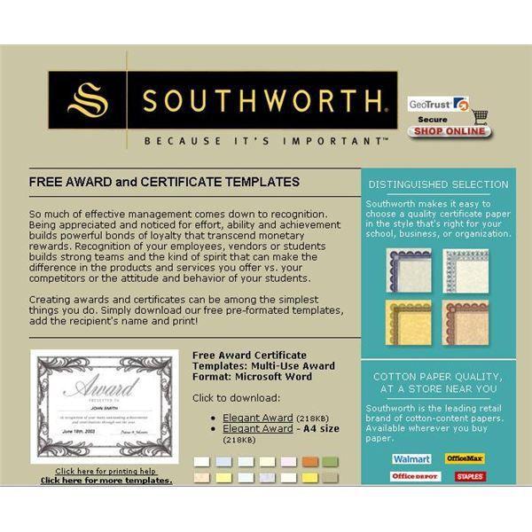 Find a Free Microsoft Word Certificate Template