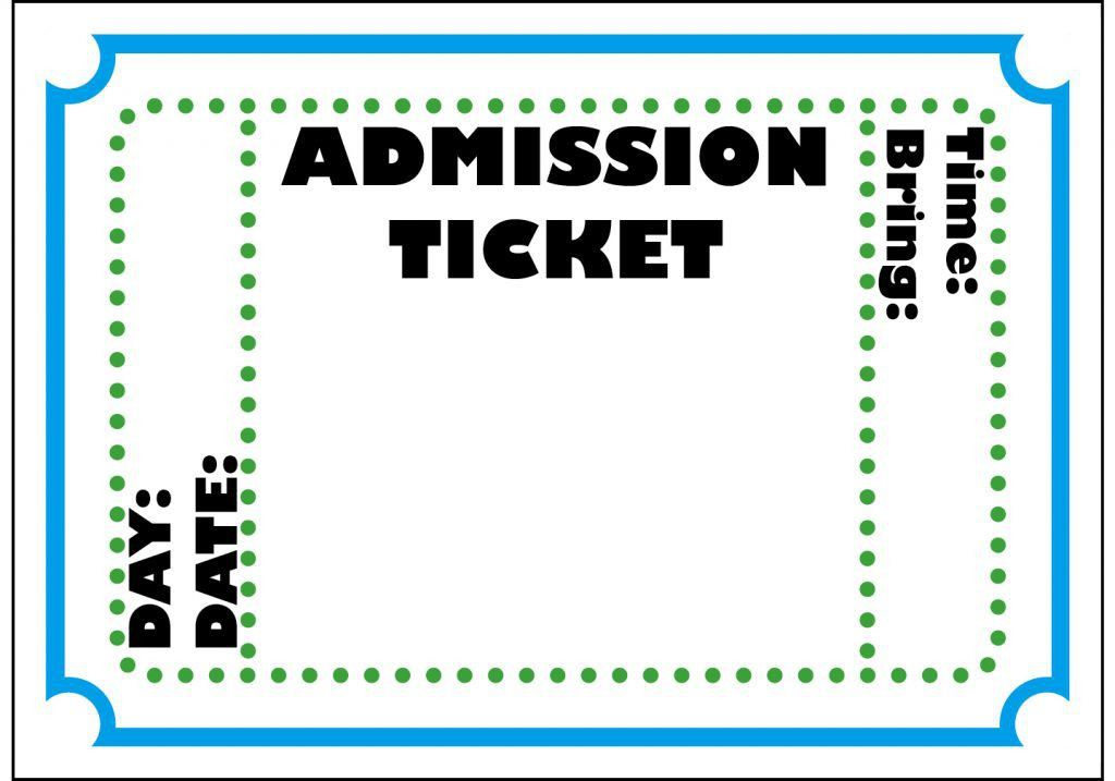 Free Printable Admit One Ticket Template Clipart Best Templates ...