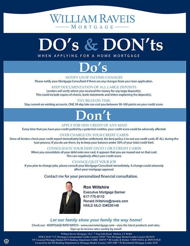 Do's and Don'ts When Applying for A Home Loan | CallKathyC.com
