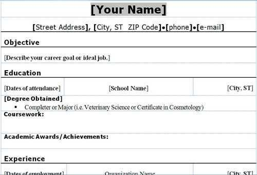Examples Of Student Resumes. A Resume Written From The Perspective ...