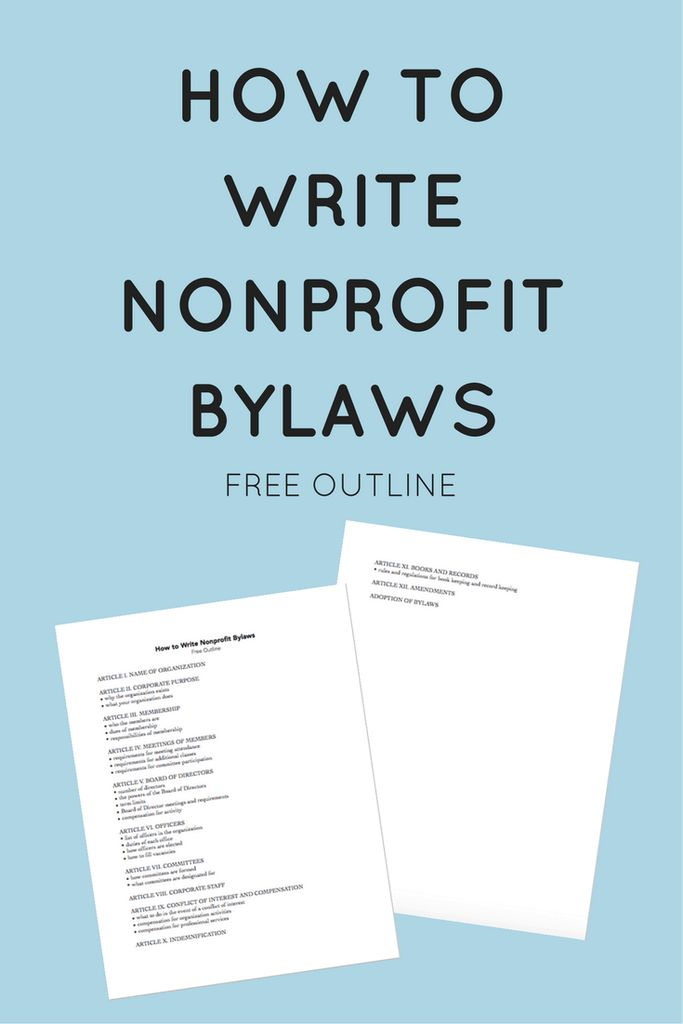 How to Write Nonprofit Bylaws - Steph Tanner