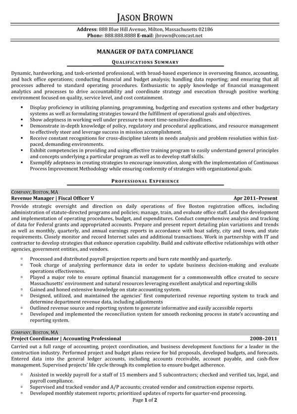 resume for finance manager resume entry level finance seangarrette ...