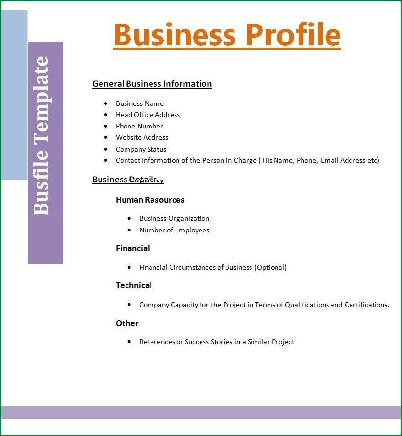9 Company Profile Template | applicationsformat.info