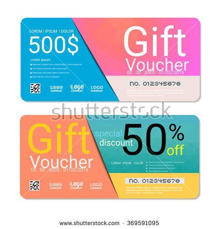 Gift Voucher Coupon Template Flat Design Stock Vector 428607235 ...
