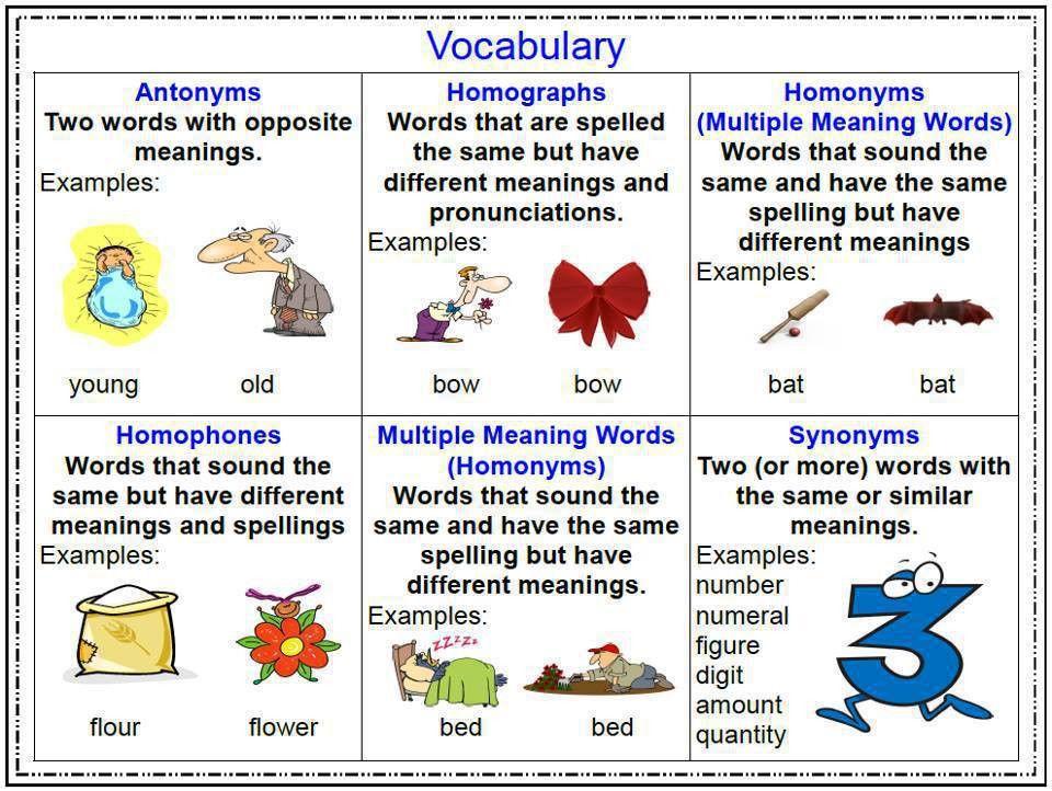 homographs #antonyms #homonyns #homophones #synonyms #multiple ...
