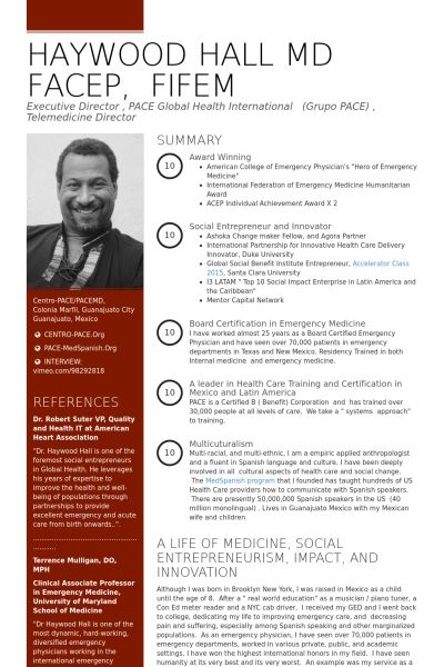 Medical Director Resume samples - VisualCV resume samples database