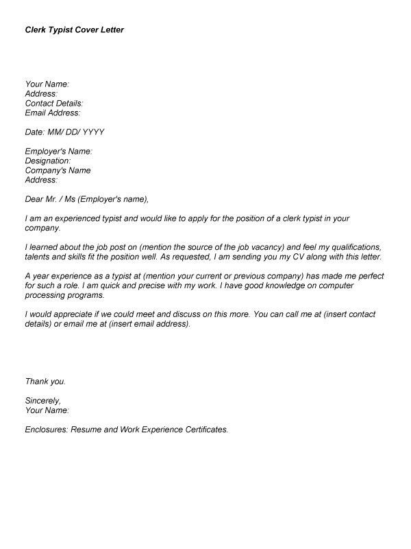 Clerk Cover Letter Examples Accounting Finance Cover Letter in ...