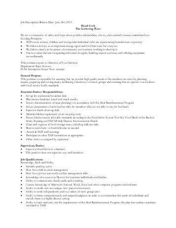 resume sample for a prep cook. sample resume for cook resume cv ...