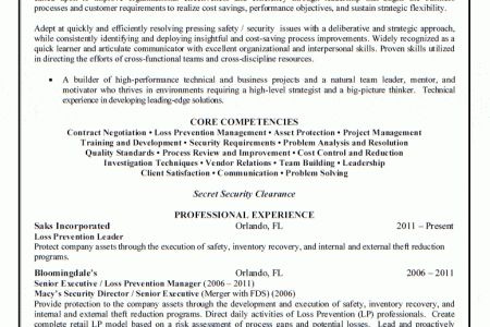 loss prevention cover letters