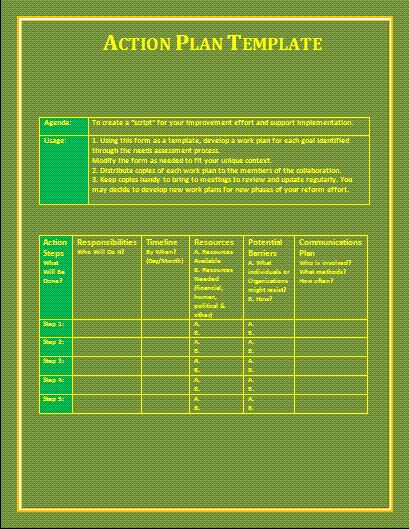 Action Plan Template | Free Microsoft Word Templates | Free ...
