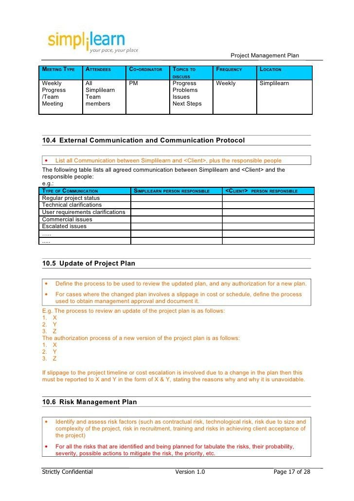 It Project Plan Template. Reformtoolkit Com Au | Managing A ...