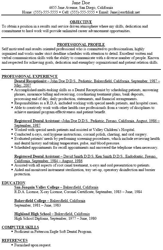 Dental Assistant Skills For Resume Example 1 | ilivearticles.info
