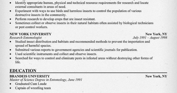 resume format for biotechnology freshers. research scientist ...