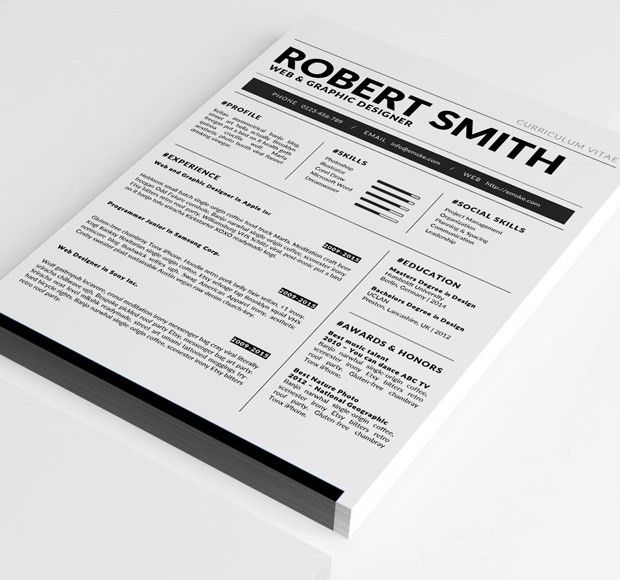 Standard Resume Template (docx, doc)