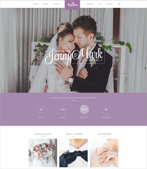 19+ Wedding Website Themes & Templates | Free & Premium Templates
