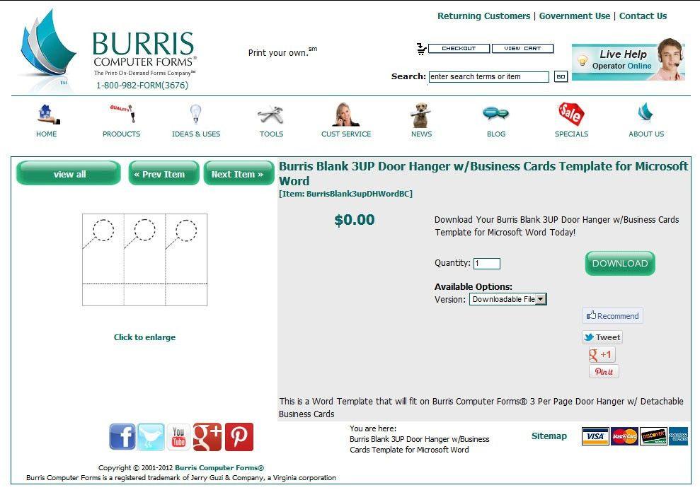 How To Create Your Own Door Hangers - Burris Computer Forms