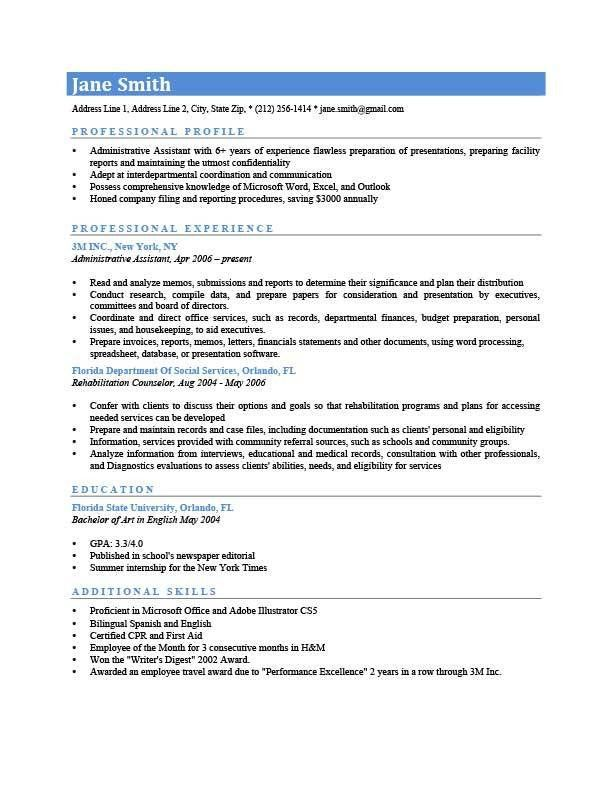 resume template professional free resume templates 20 best