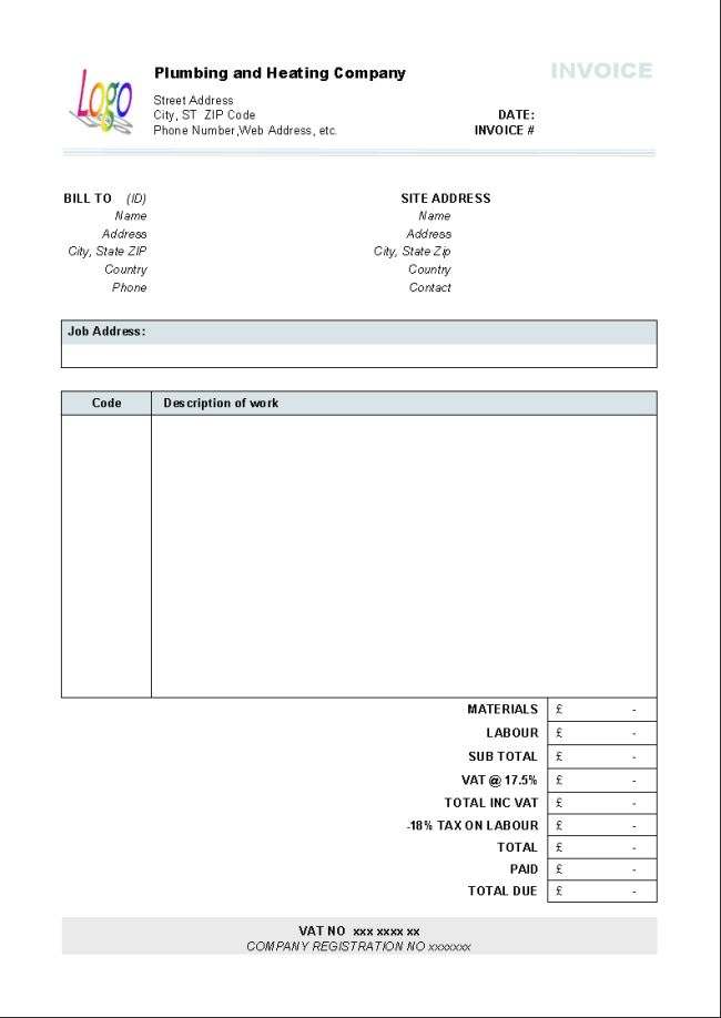 Efficient Template of Printable Billing Invoice Sample for ...